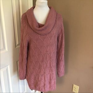 JEANNE PIERRE Cowl Neck Sweater